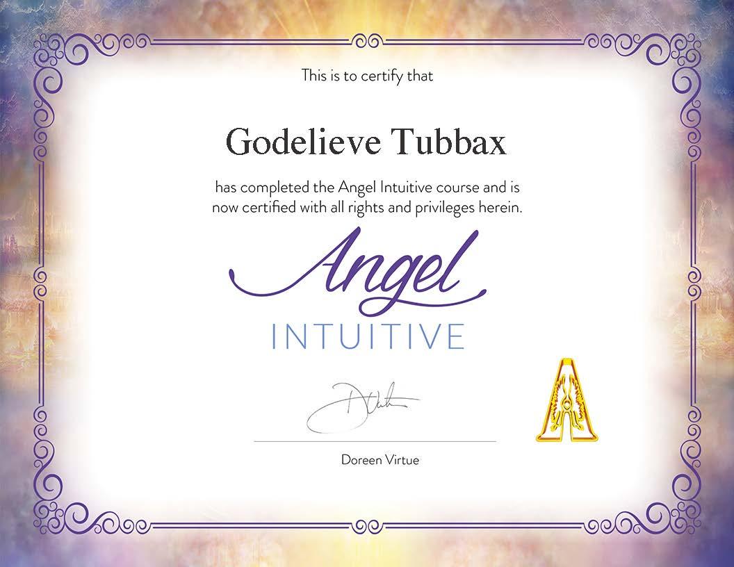 certificate Angel Intuitive Doreen Virtue