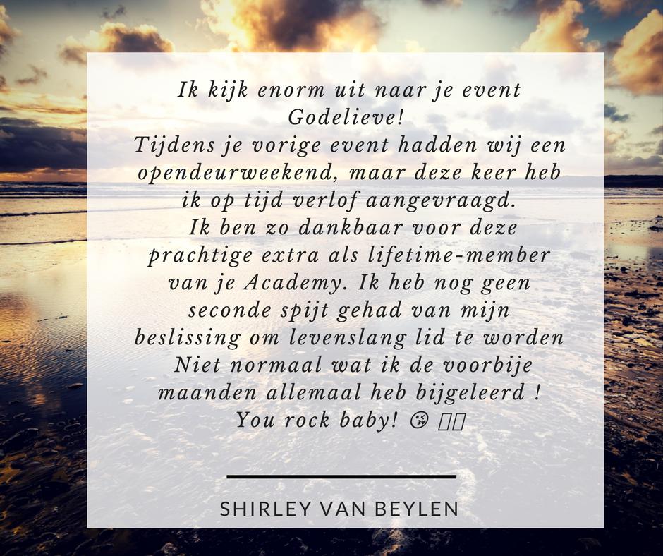 Shirley Van Beylen recensie GTOA 1